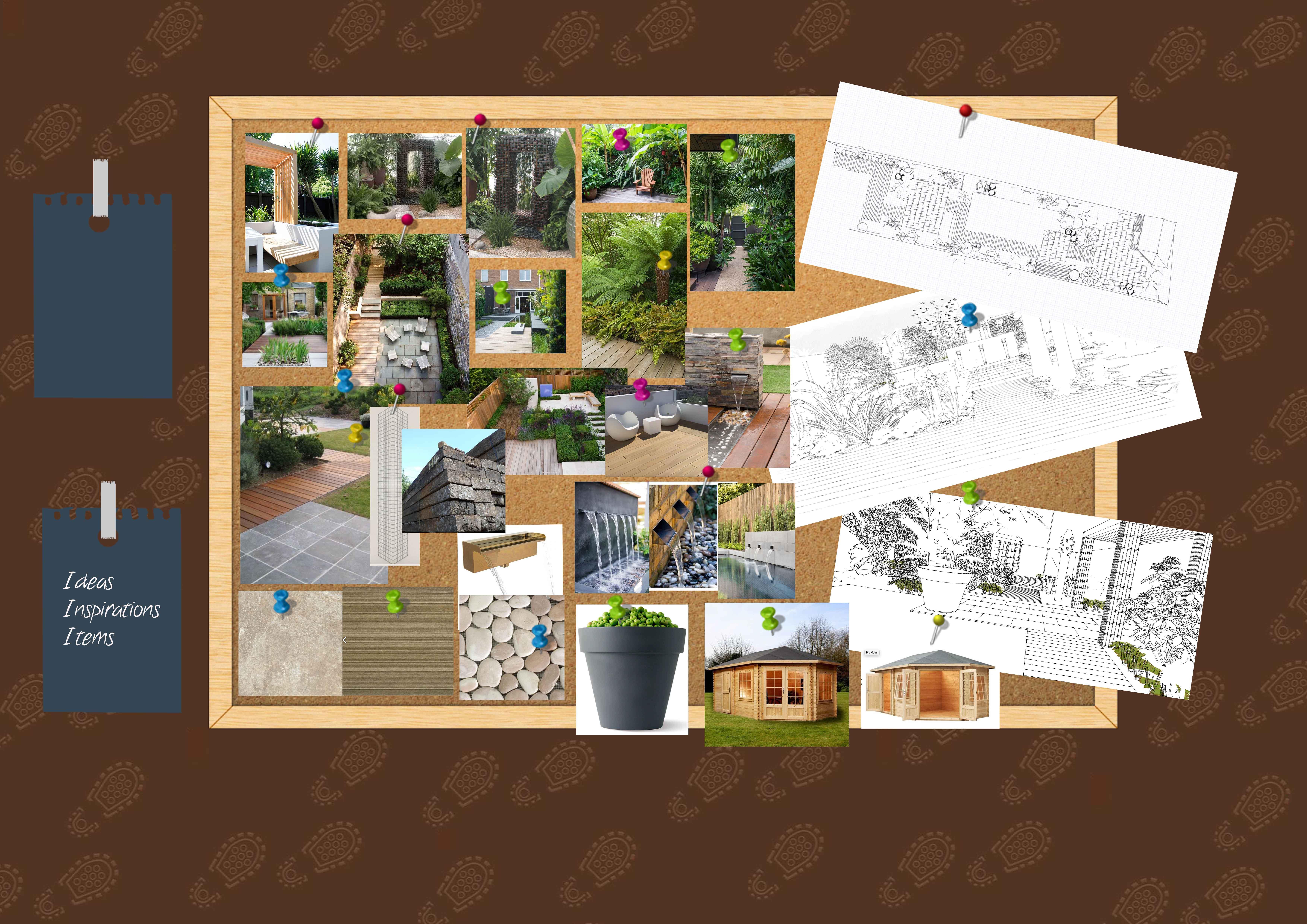Earth Designs' ideas for garden layout