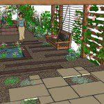 Walthamstow garden design perspective 3