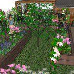 Walthamstow garden design perspective 5