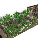 Walthamstow garden design perspective 2