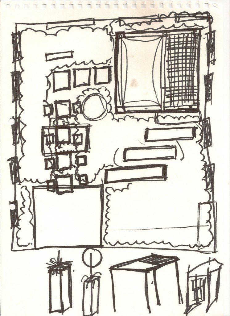 Garden Design West London Sketch
