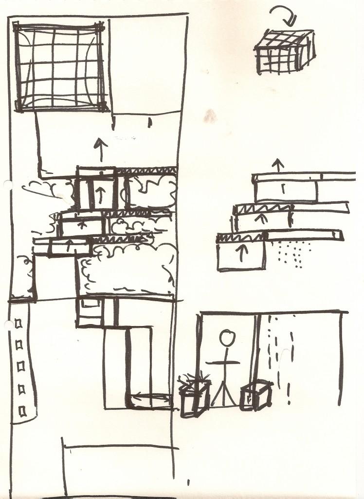 South London Garden Design Concept Sketch