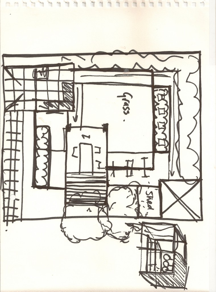 Garden Design North London Sketch