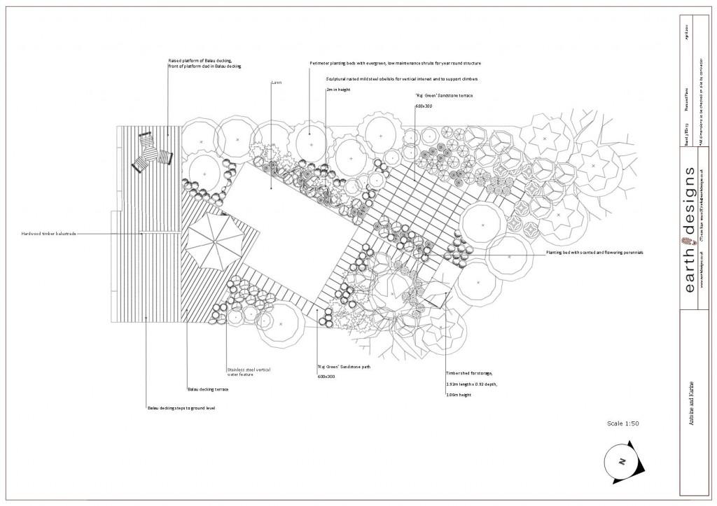 Garden Design London Kilburn Plan