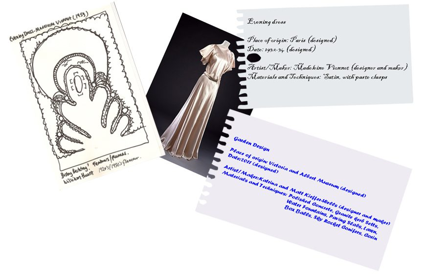 London Garden Design Inspirations: concept drawing inspired by an evening dress
