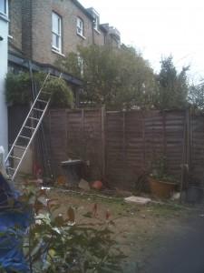 London Garden Design Kilburn Before Shot 3