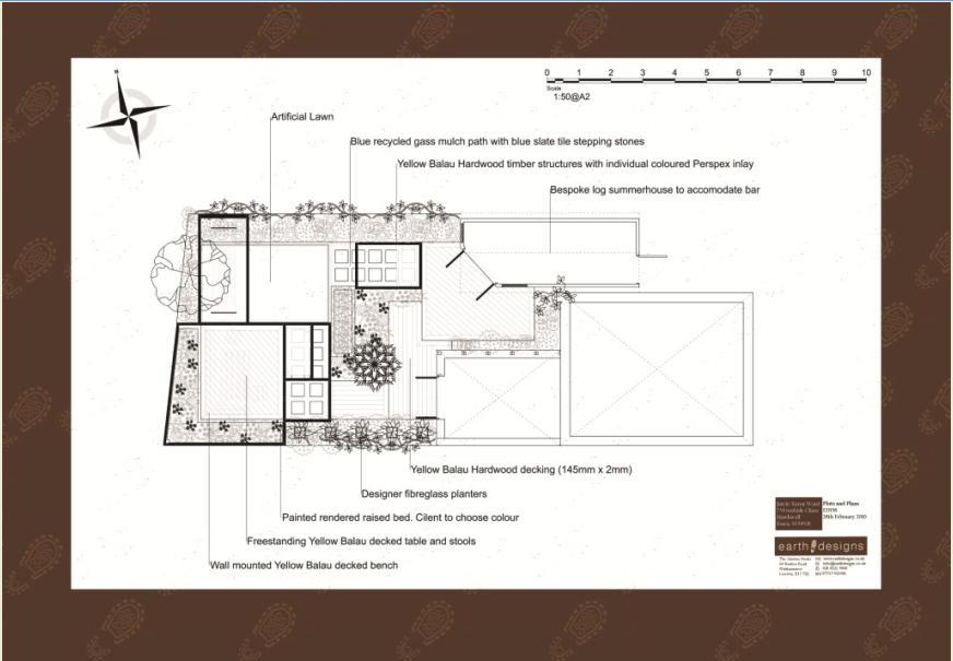 London Garden Design: Plan