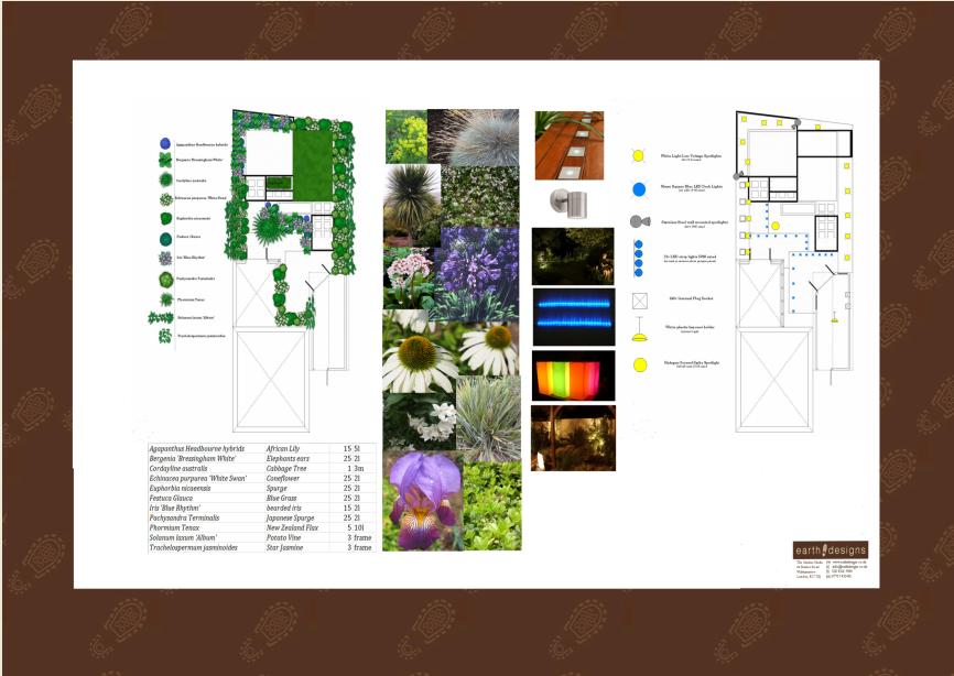 London Garden Design: Planting and Lighting