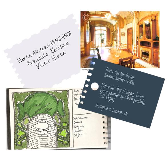 London Garden Design Concept Sketch: Horta Museum