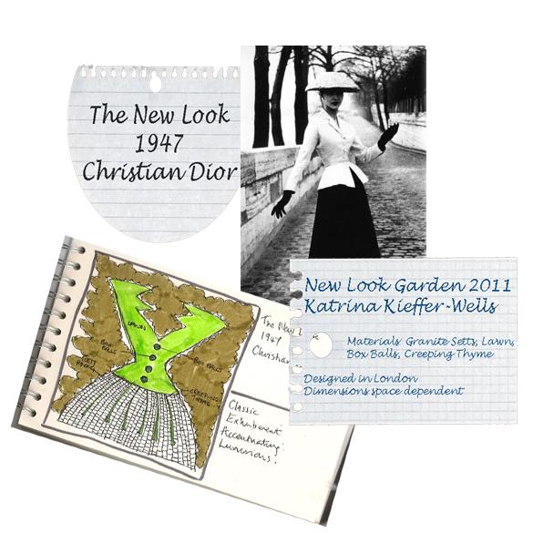 London Garden Design Concept Sketch: New Look Garden