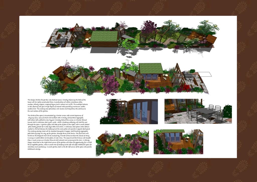 London Garden Design, Stanmore Visualisations