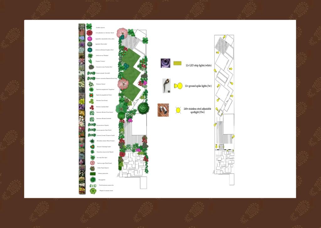 London Garden Design, Stanmore Planting and Lighting