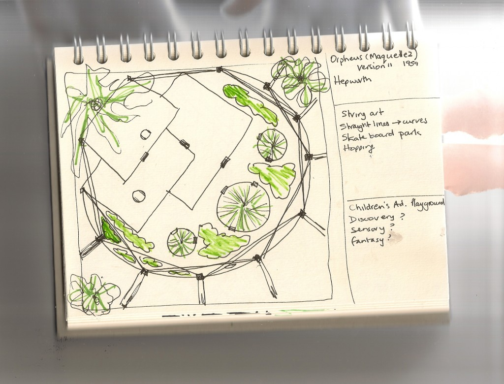 Garden Sketch Inspired by Barabara Hepworth