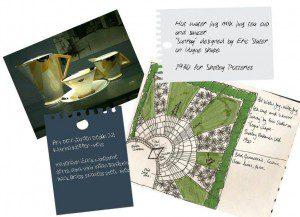 Art deco jug inspiration for garden design sketch