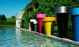 Colourful planters for the garden