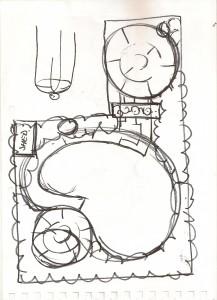 south london garden design clinic concept sketch