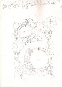 Hertfordshire Garden Design Clinic concept drawing