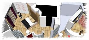 Romanian interior design - bedroom area