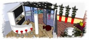 Romanian interior design - kitchen area