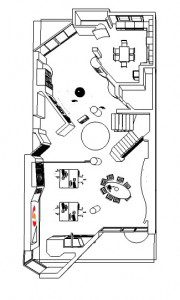 Romania Interior design - Ground Floor overall plan
