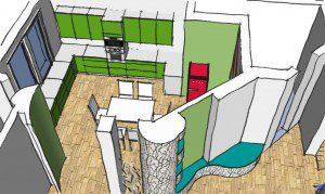 Romanian Interior Design - Ground Floor Kitchen Visual 1