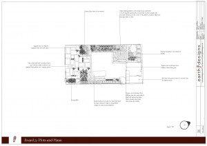 Garden plan Hackney garden