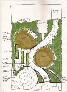 Curvey Garden Design Sketch