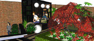 Modern Japanese Pergola - Garden design London