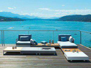 Contemporary Garden Design seating ideas