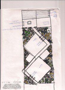 Sketch for Essex Garden Design