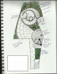 Garden Design in Essex: Concept drawing