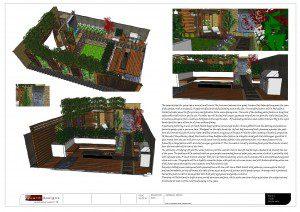 Notting Hill Garden Design 3D visual board