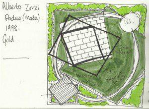 Garden design concept based on Alberto Zorzi necklace