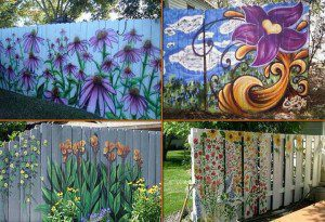 These funky Heirloom fences would create a stunning backdrop to any small space garden design