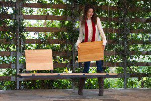 The Swinglab garden seat would make a welcome addition to any contemporary garden design