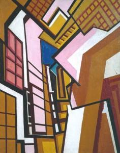 Workshop circa 1914-5 by Wyndham Lewis 1882-1957