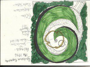 A concept sketch for garden design in Southend on Sea