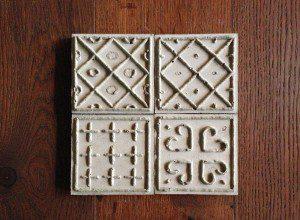 modern garden designs - concrete tiles