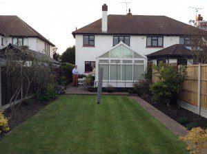 How the garden looked