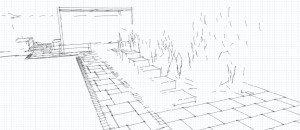 garden design east london sketch 1