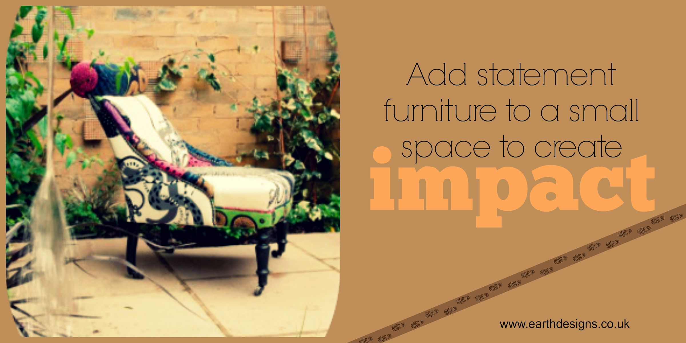 Add a statement to your garden with a great chair!