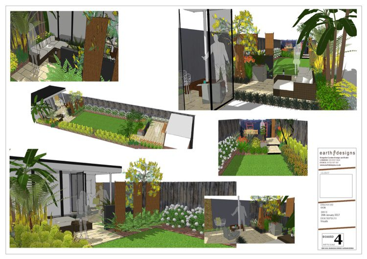 A variety of different angles shows the client the garden layout