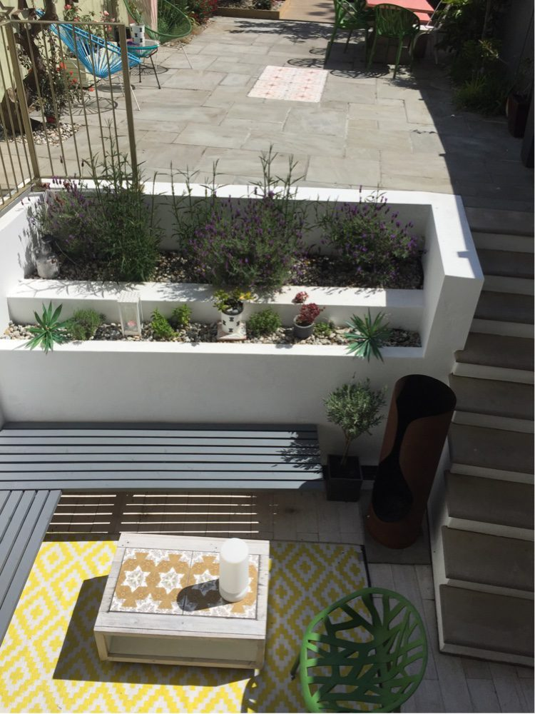 Add an outdoor rug for a high impact accessory