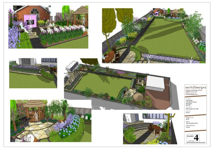 CAD visuals show all angles of the garden