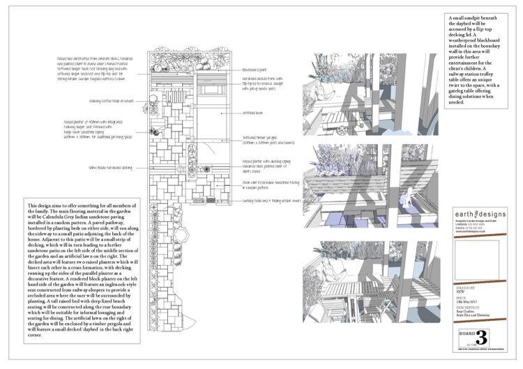 East London garden scale plan