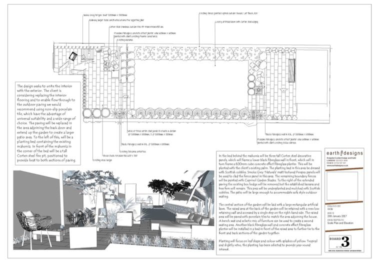 Scale plan detailing the design