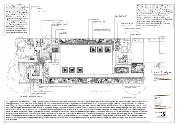 Scale plan. South London Garden revamp