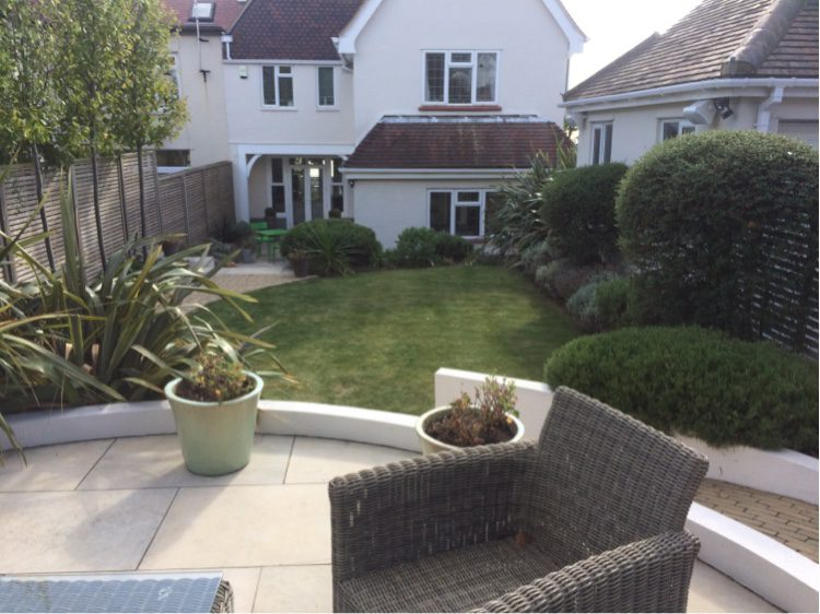 The layout of the garden works well