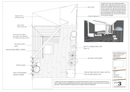A scale plan shows how the garden should be laid out