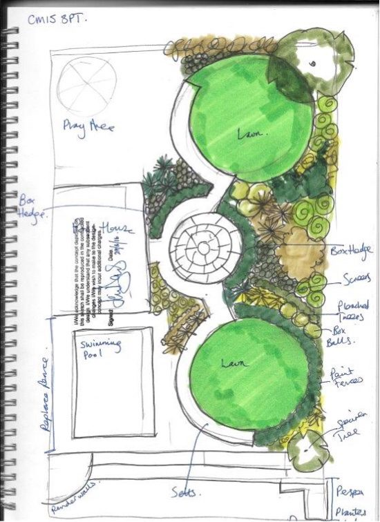 Garden space to unite the space